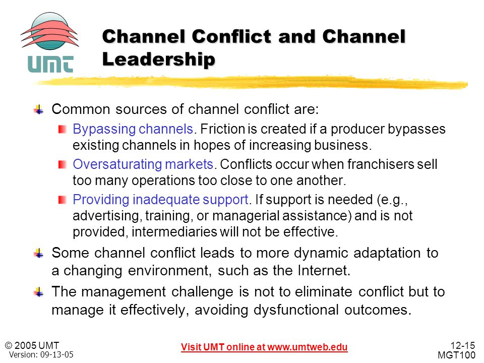 what are some types and sources of channel conflict Conflict in a workplace setting can be a normal part of doing business in some cases, conflict that is managed properly can be beneficial, as when it fosters an environment of healthy competition.