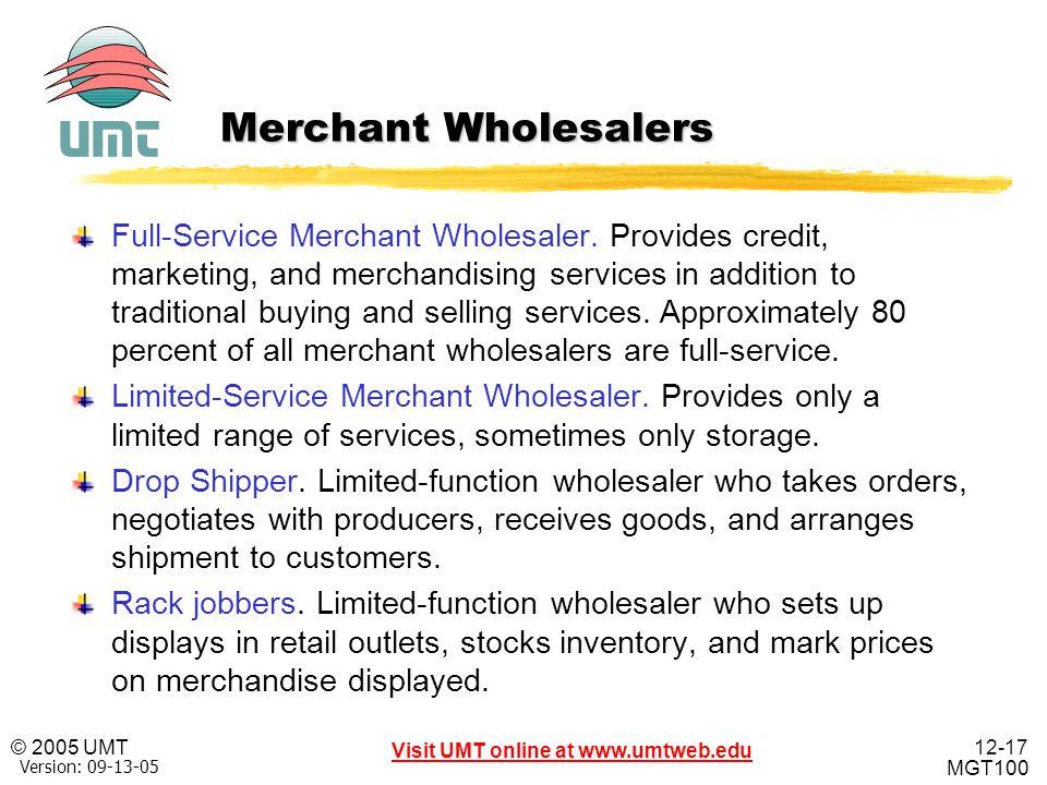 Merchant Wholesalers