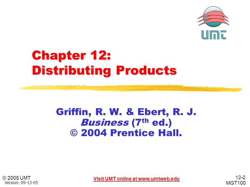 Chapter 12: Distributing Products