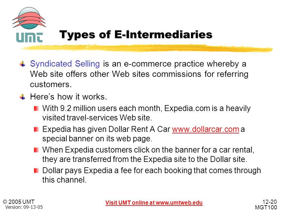 Types of E-Intermediaries