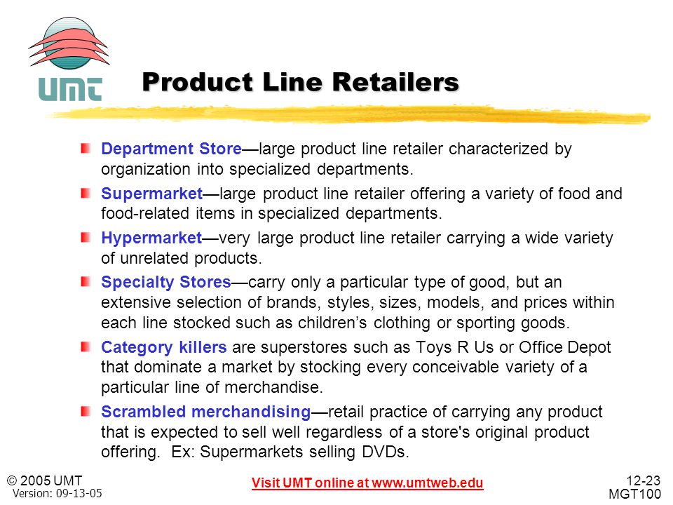 Product Line Retailers