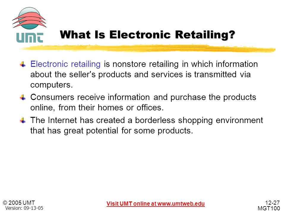 What Is Electronic Retailing