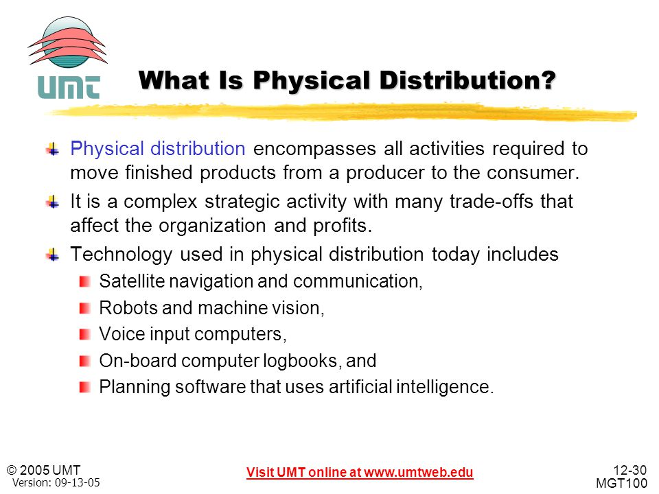 What Is Physical Distribution