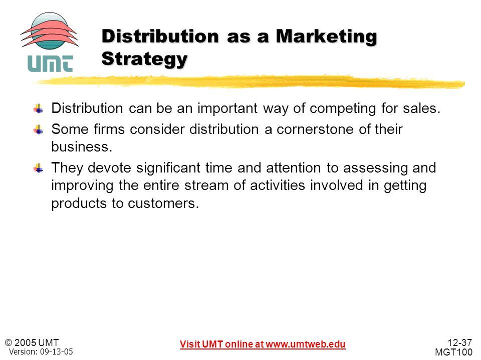 Distribution as a Marketing Strategy