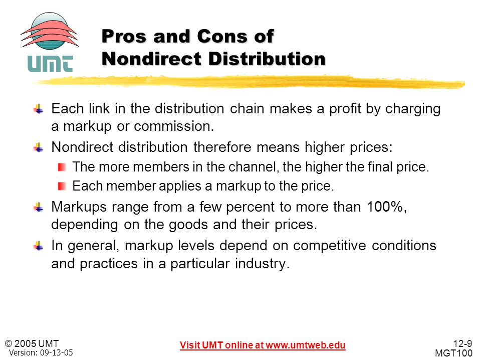 Pros and Cons of Nondirect Distribution