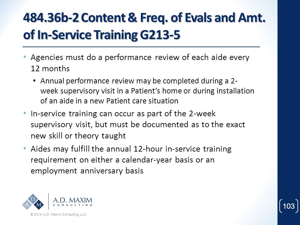 484. 36b-2 Content & Freq. of Evals and Amt