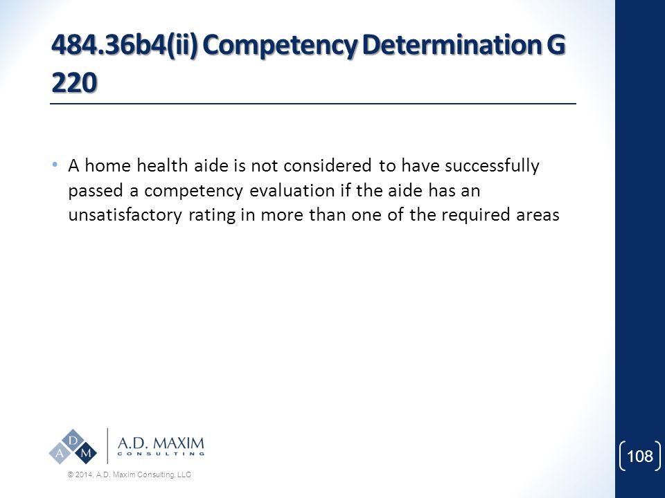 484.36b4(ii) Competency Determination G 220