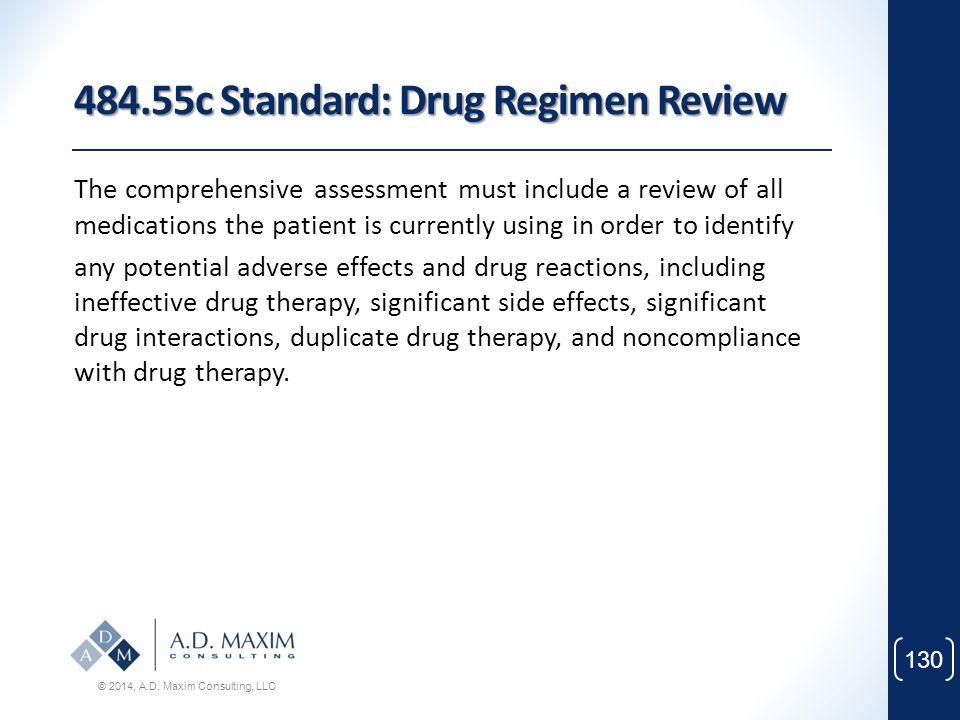 484.55c Standard: Drug Regimen Review