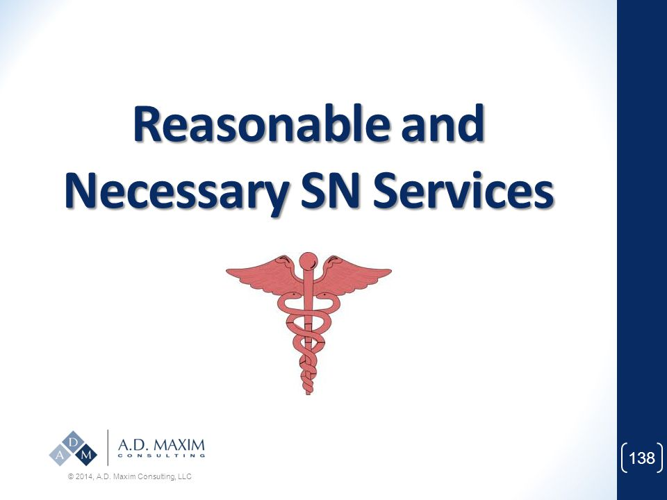 Reasonable and Necessary SN Services
