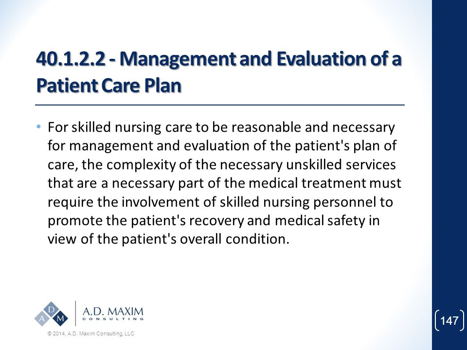 40.1.2.2 - Management and Evaluation of a Patient Care Plan