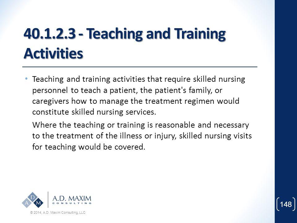 40.1.2.3 - Teaching and Training Activities