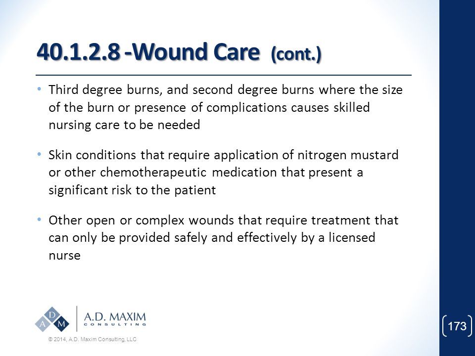 40.1.2.8 -Wound Care (cont.)