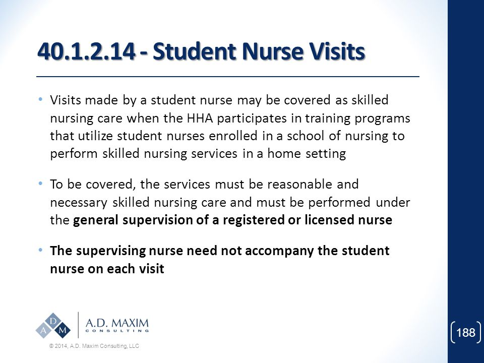 40.1.2.14 - Student Nurse Visits