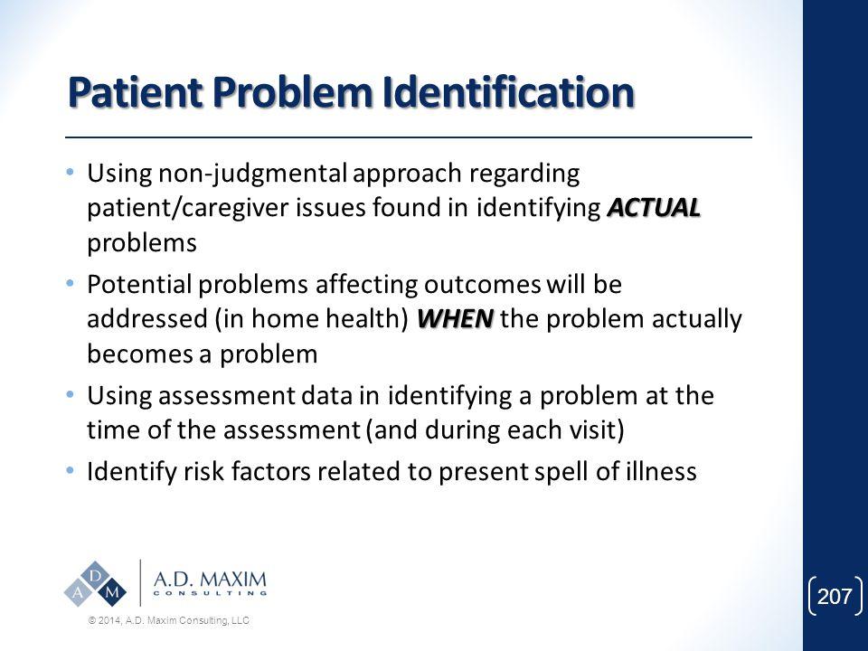 Patient Problem Identification