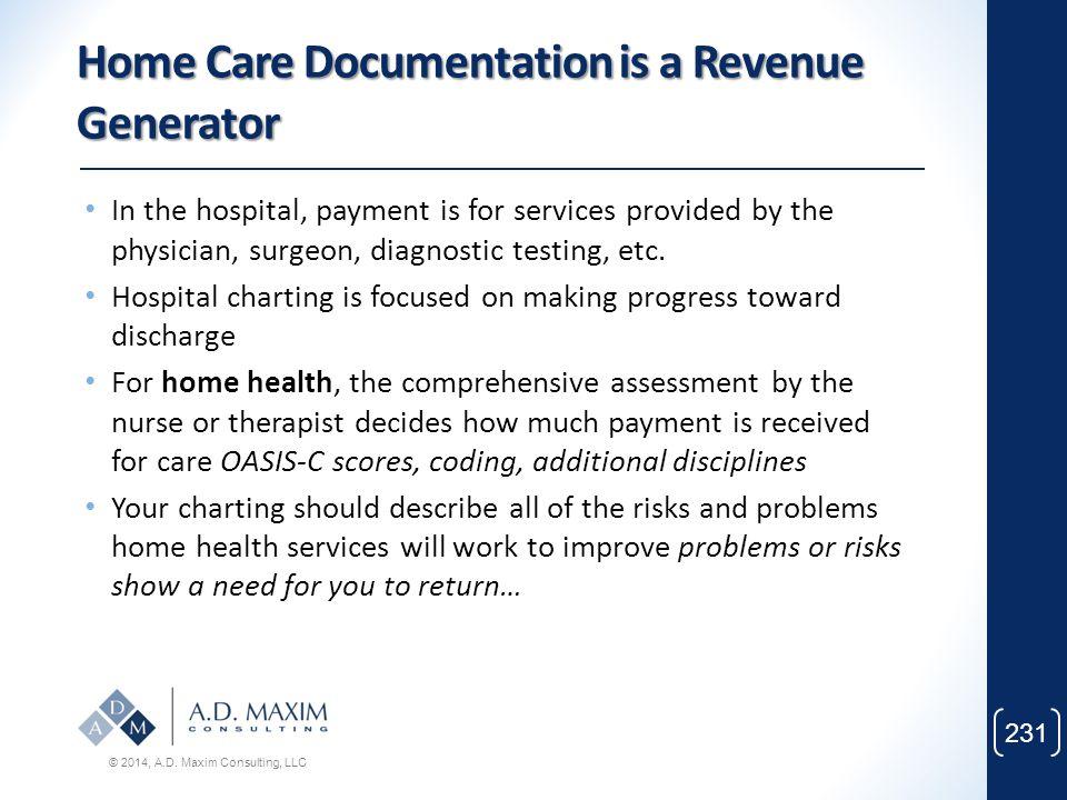 Home Care Documentation is a Revenue Generator