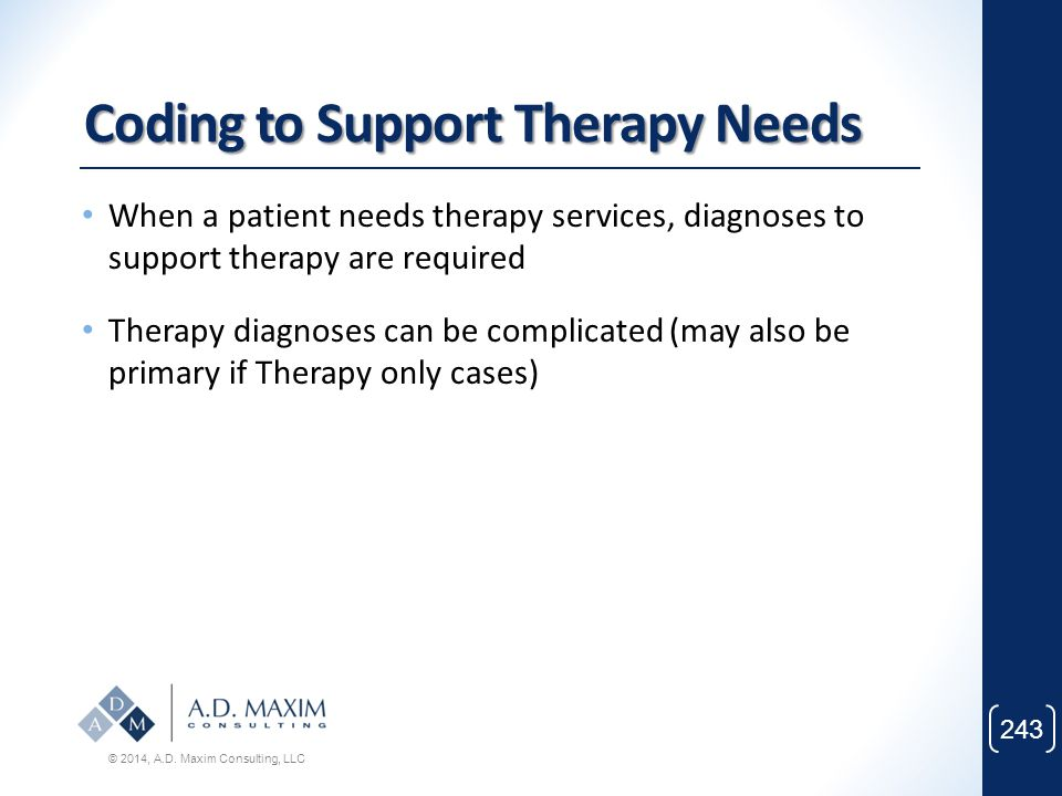 Coding to Support Therapy Needs