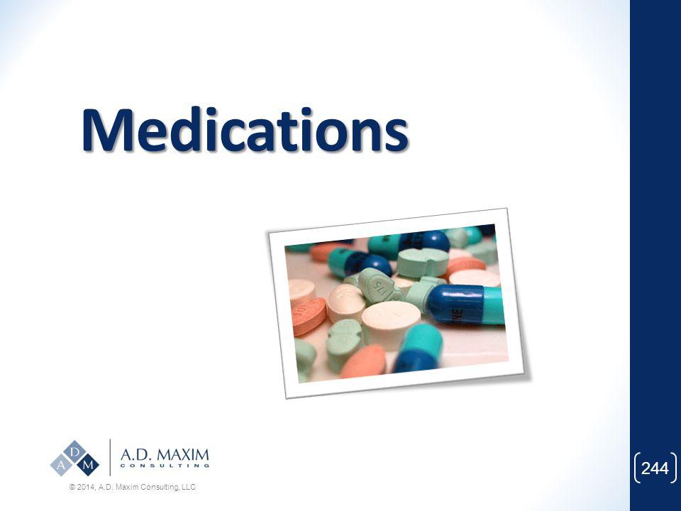 Medications © 2014, A.D. Maxim Consulting, LLC