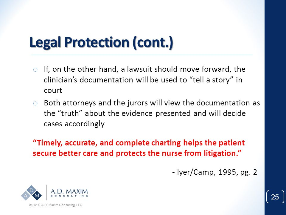 Legal Protection (cont.)
