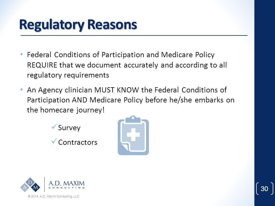 Regulatory Reasons