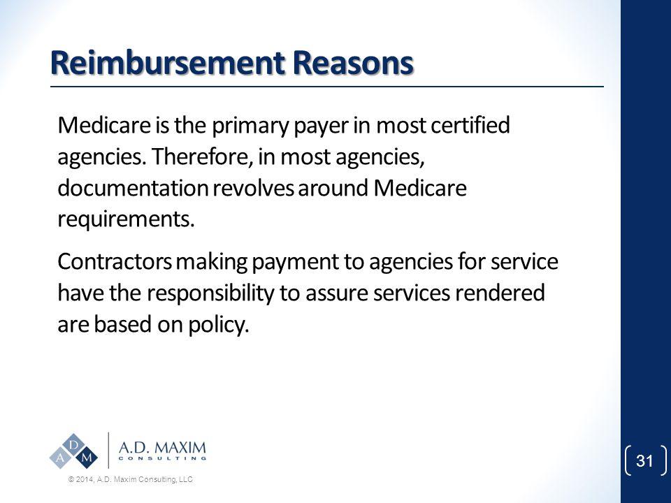 Reimbursement Reasons