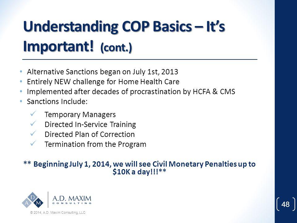 Understanding COP Basics – It's Important! (cont.)
