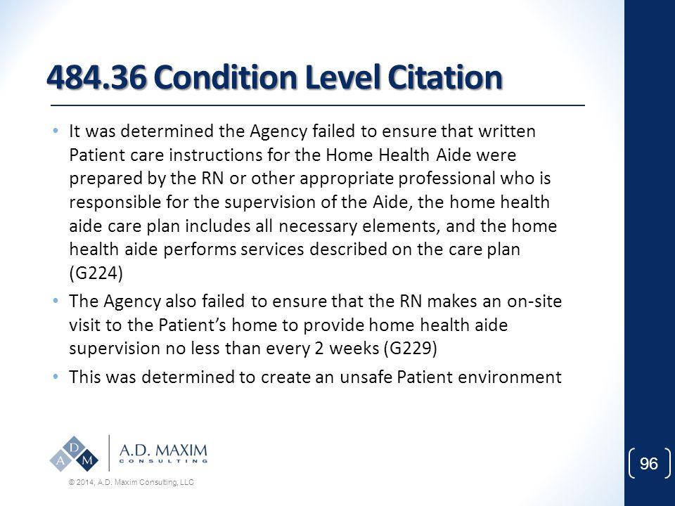 484.36 Condition Level Citation