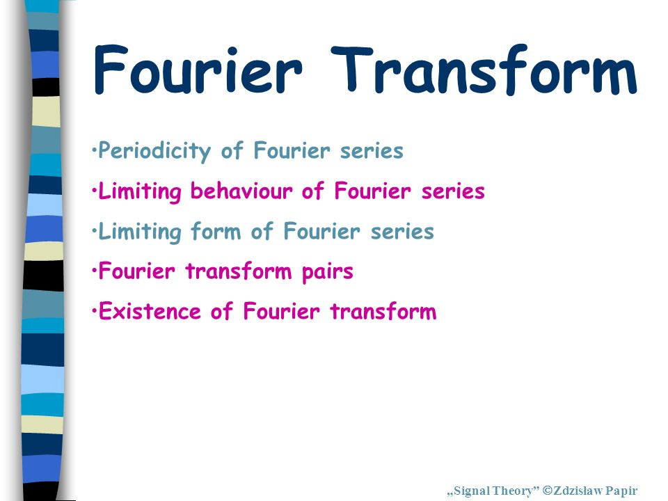 Fourier Transform Periodicity of Fourier series
