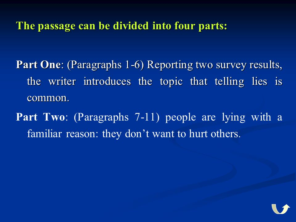 The passage can be divided into four parts: