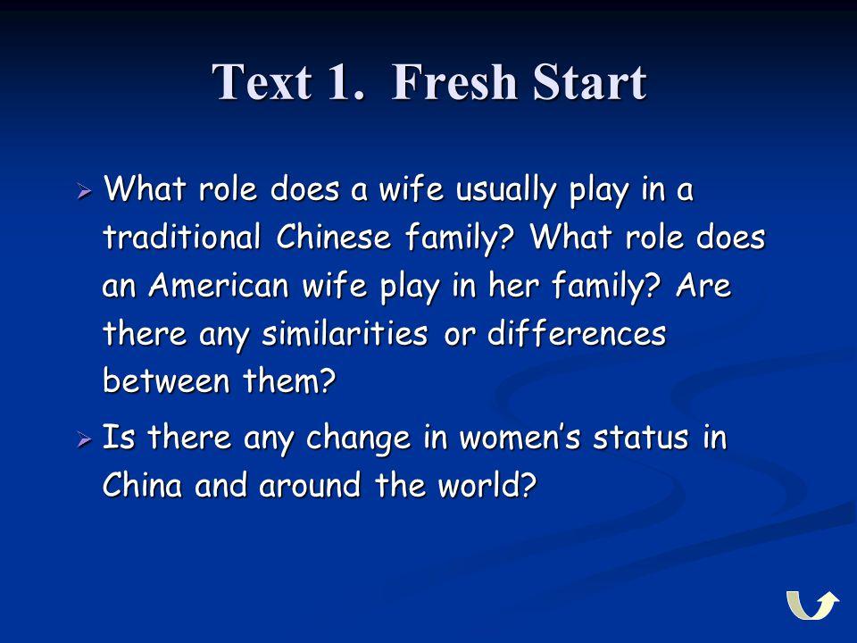 Text 1. Fresh Start