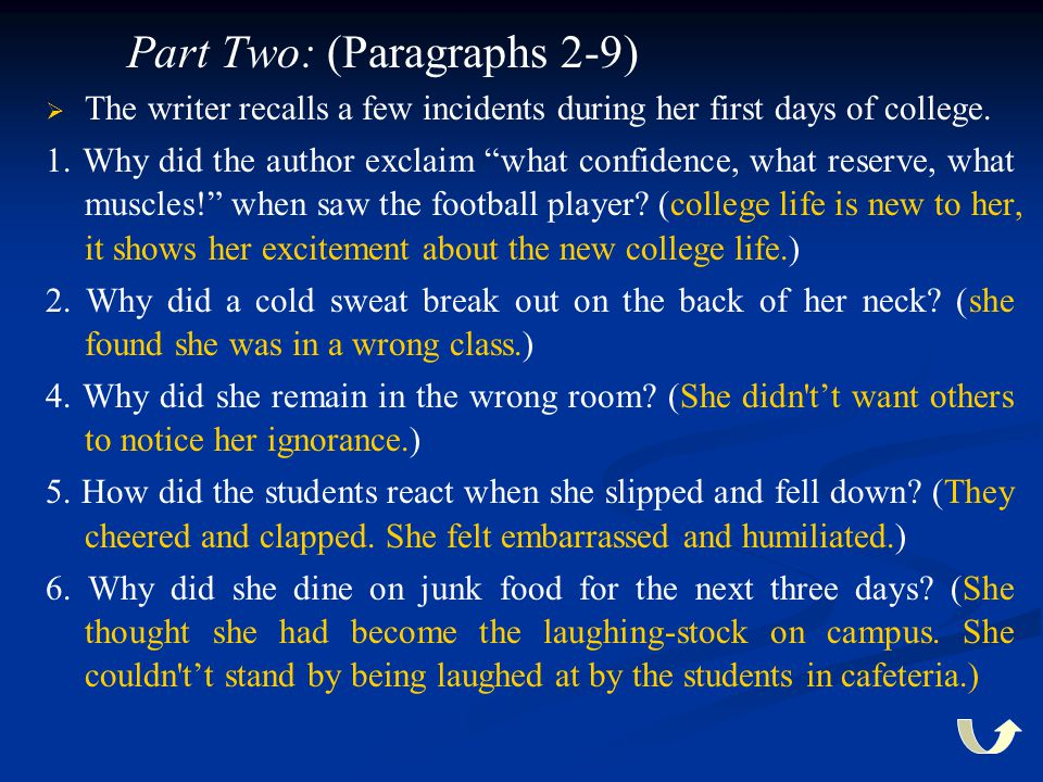 Part Two: (Paragraphs 2-9)