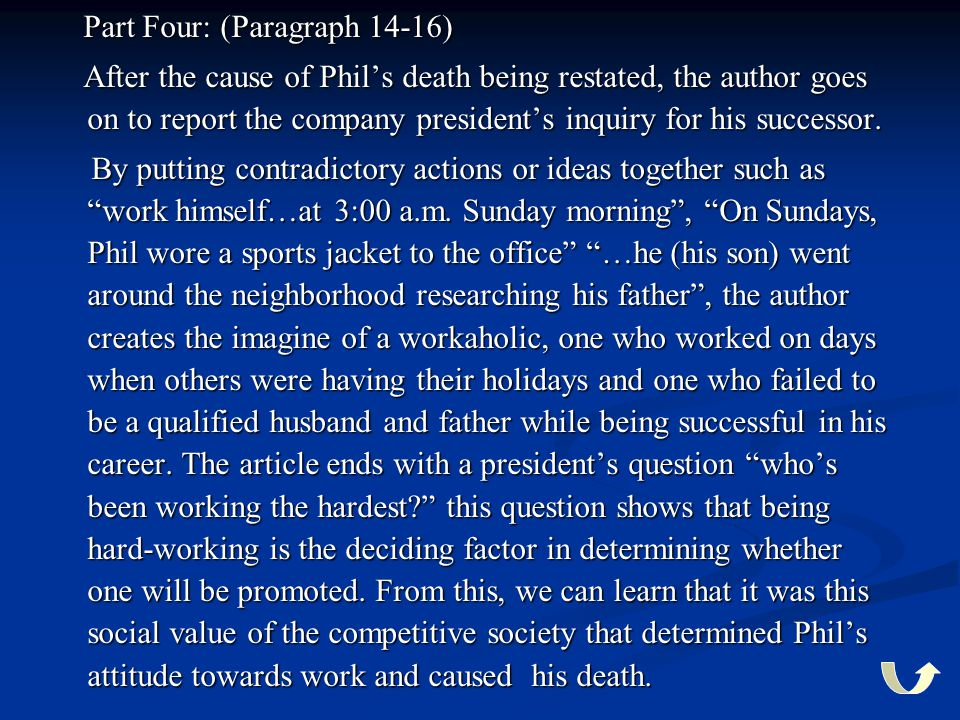 Part Four: (Paragraph 14-16)
