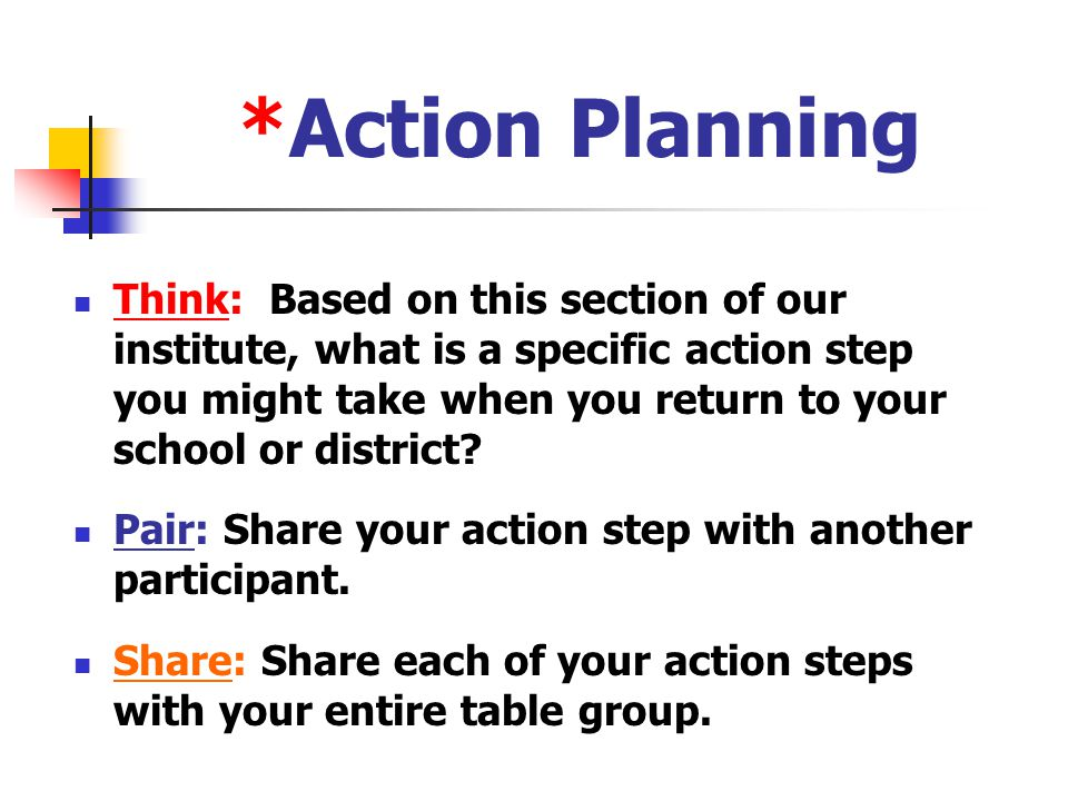*Action Planning