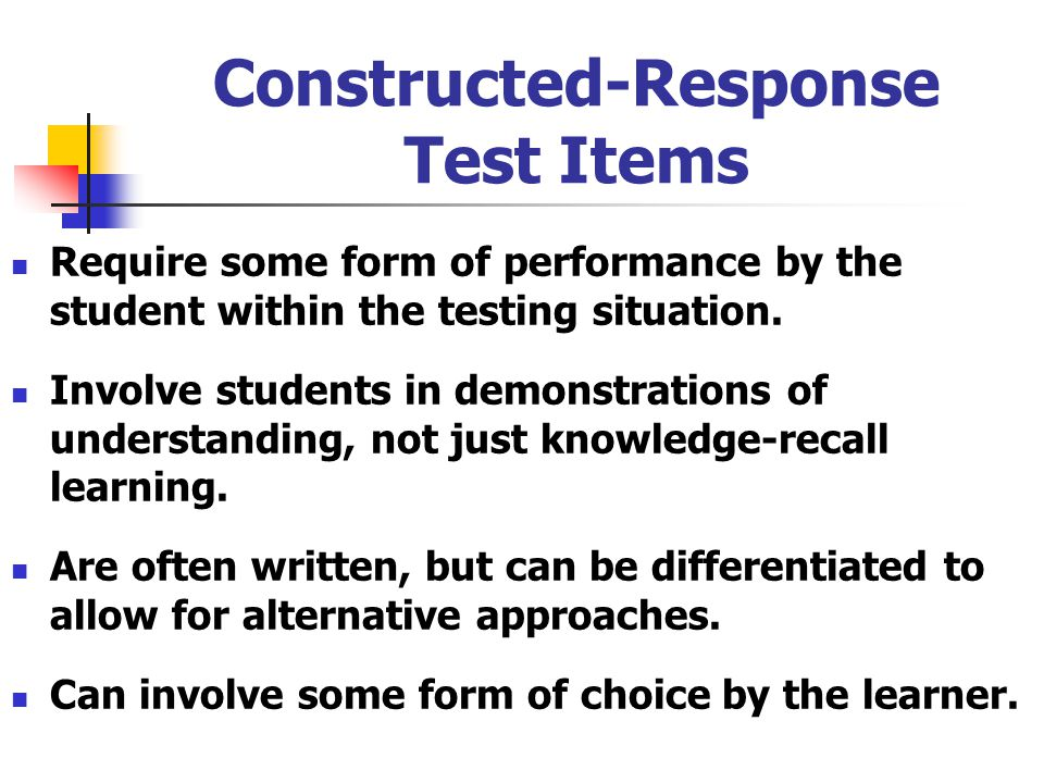 Constructed-Response Test Items