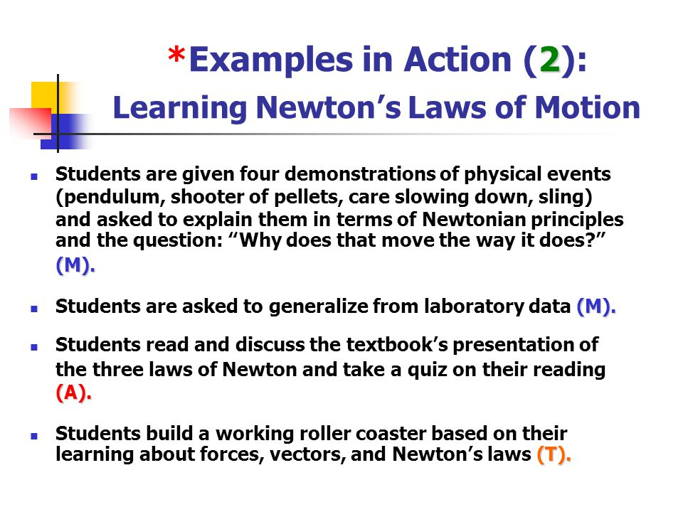*Examples in Action (2): Learning Newton's Laws of Motion