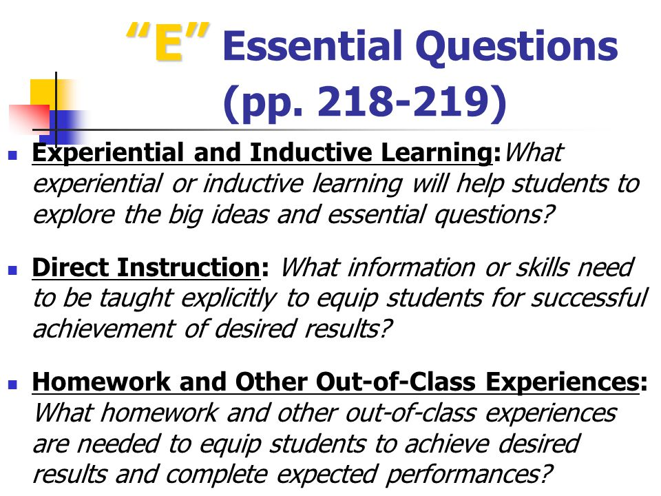 E Essential Questions (pp. 218-219)