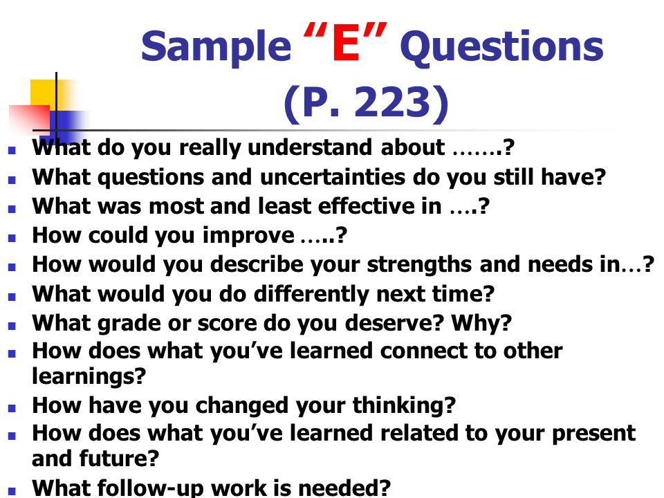 Sample E Questions (P. 223)