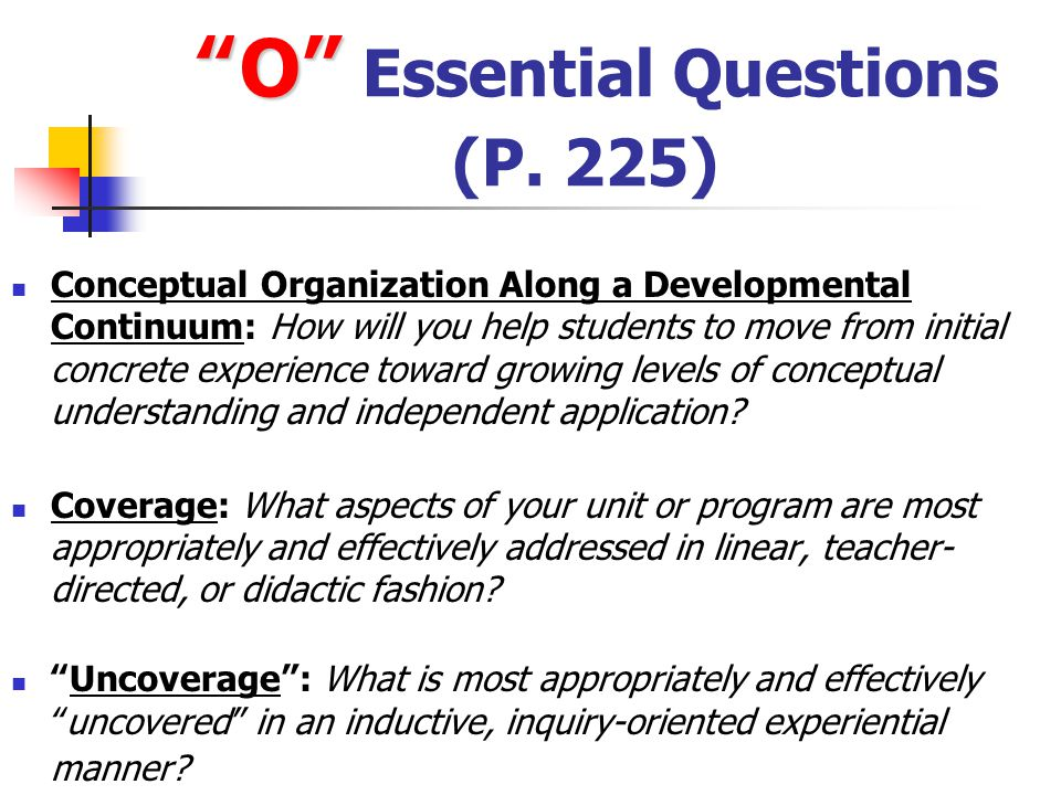 O Essential Questions (P. 225)