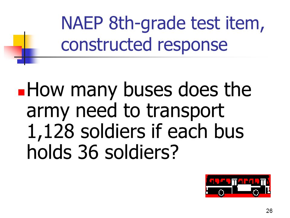 NAEP 8th-grade test item, constructed response