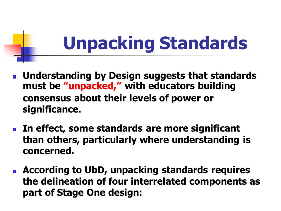 Unpacking Standards