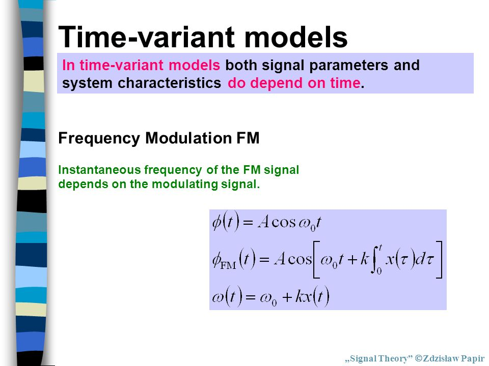 Time-variant models Frequency Modulation FM