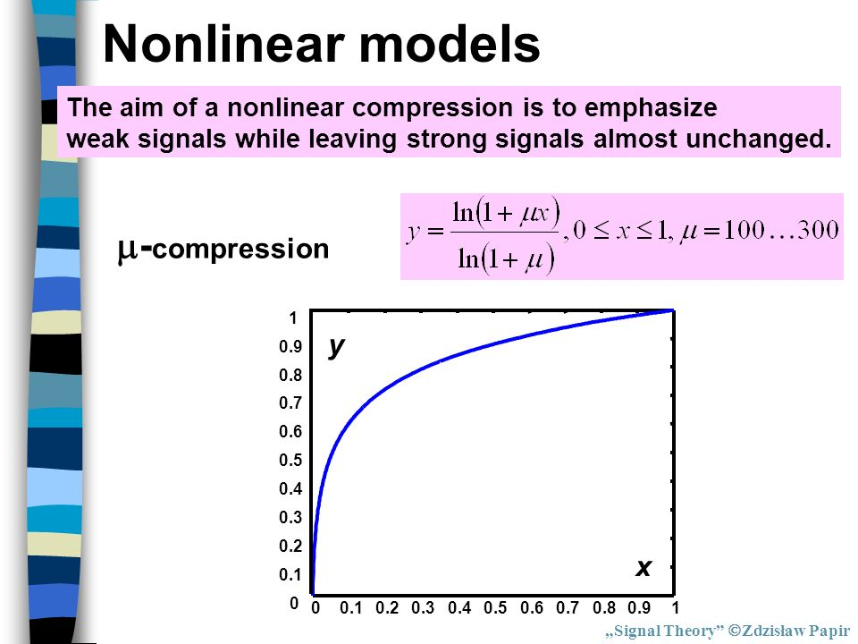 Nonlinear models -compression y x
