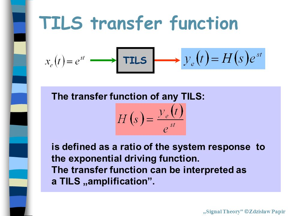 TILS transfer function