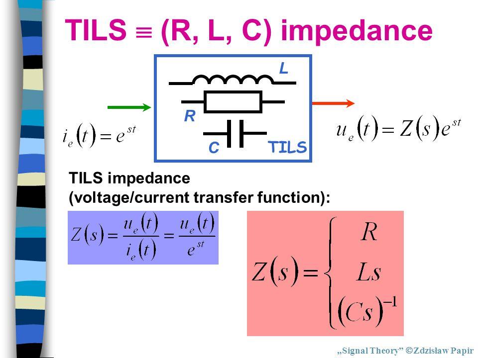 TILS  (R, L, C) impedance TILS R C L