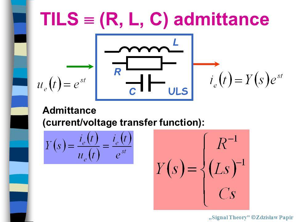 TILS  (R, L, C) admittance