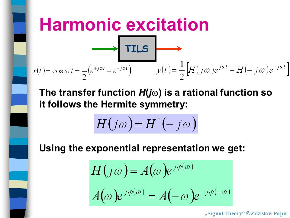 Harmonic excitation TILS