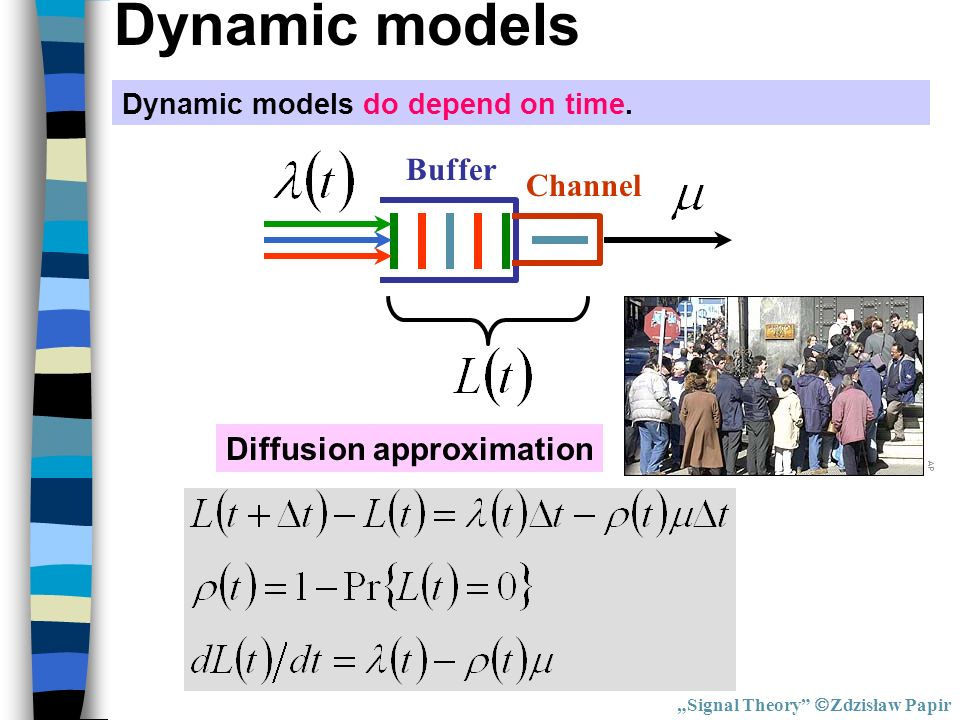 Dynamic models Buffer Channel Diffusion approximation