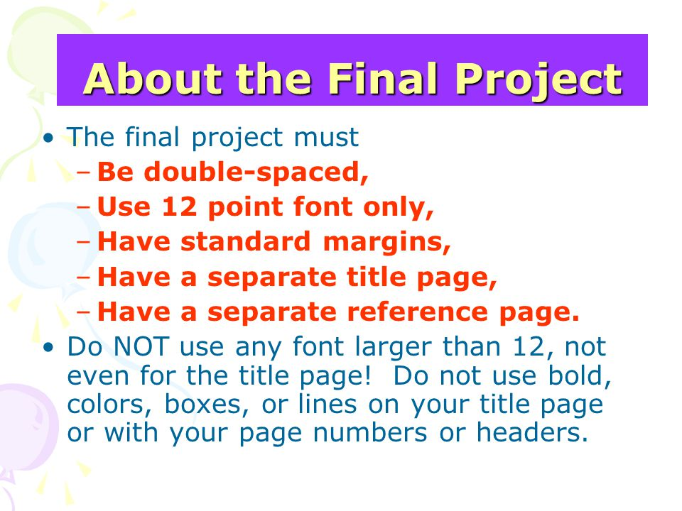 About the Final Project