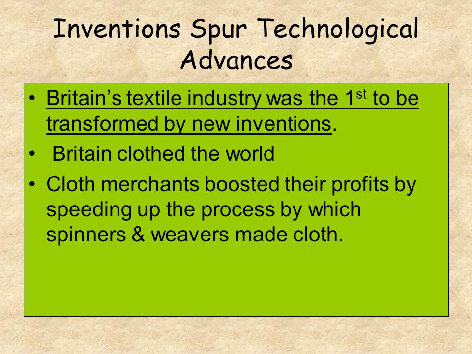 Inventions Spur Technological Advances