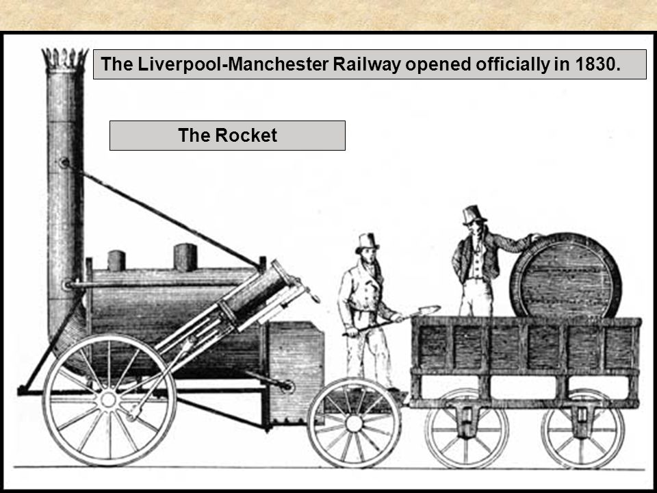 The Liverpool-Manchester Railway opened officially in 1830.