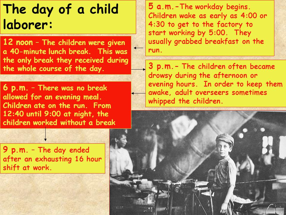 The day of a child laborer: